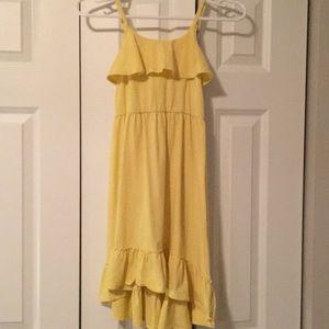 EUC Yellow high low dress